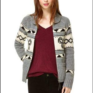 TNA Lambswool Zip-up Sweater
